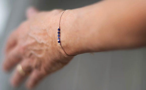 Faceted Sodalite Silk Bracelet