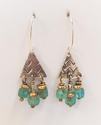 Small Triangle Apatite Earrings