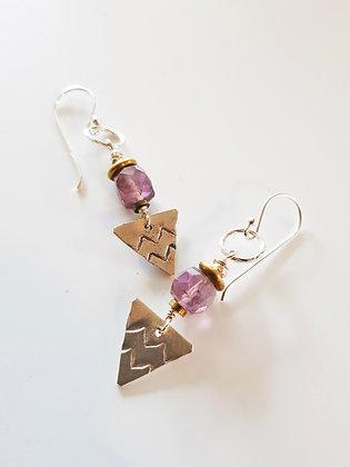 AmethystTriangle Earrings