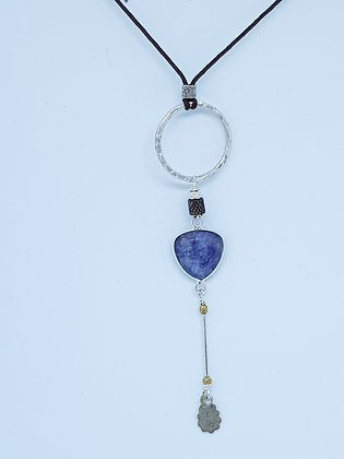 Silver Ring and Iolite Pendant