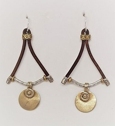 Leather Coin earrings