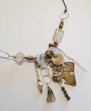 Ethiopian Mix Metal Pendant Necklace