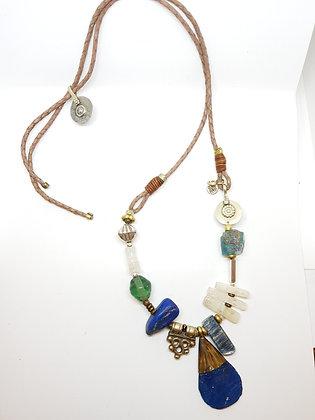 Unique Roman Blue Glass Necklace