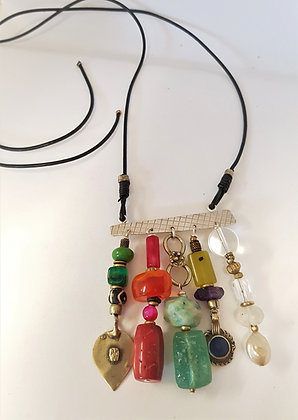 Large Colourful bar pendant