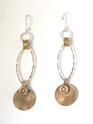 Mix Metal Drop Earrings