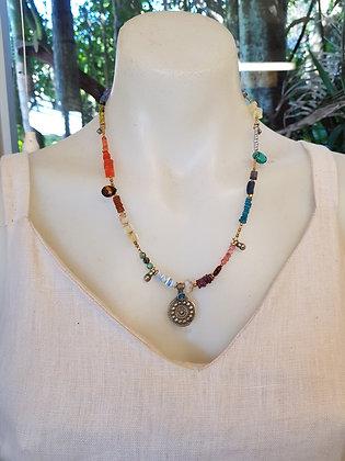 Fine Vintage Style Semi Precious stone Necklace
