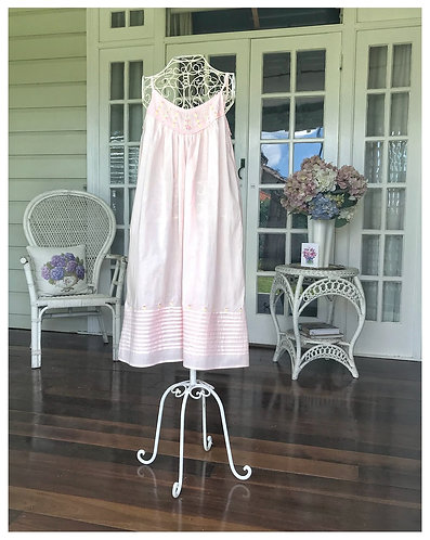 Pink Shoestring Strap Nightdress