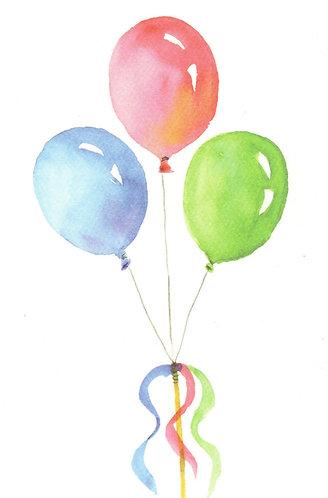 Balloon Bunch Greeting Card