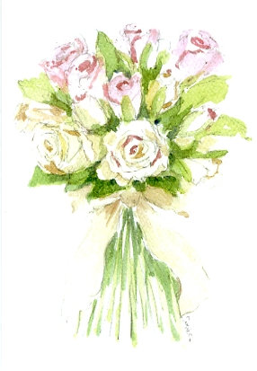 Rose Posy Greeting Card