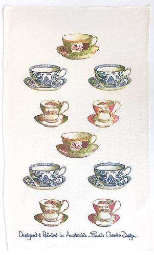 Tea Cups Tea Towel