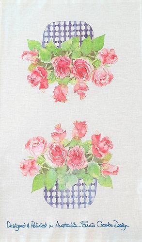 Susie's Roses Tea Towel