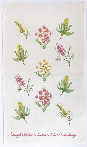 Australian Wildflowers Tea Towel