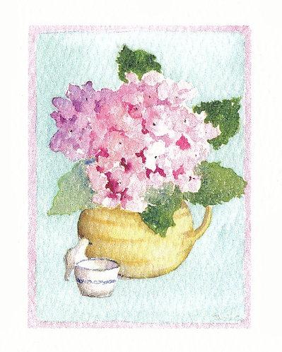 Pink Hydrangea Gift Card