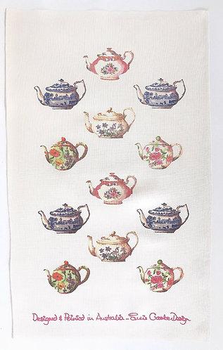 Teapot Collection Tea Towel