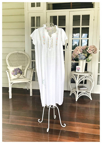 The Antoinette White Hailspot Nightdress - 2 Designs