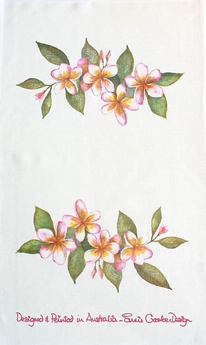 Frangipani Tea Towel
