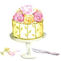 Rose Cake Gift Card