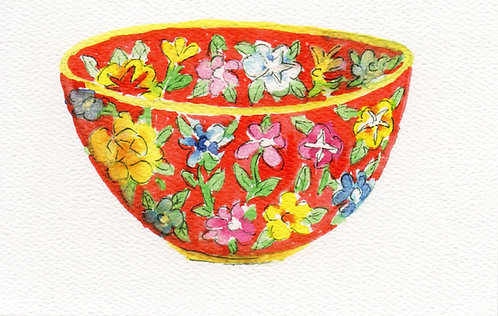 Chinese Bowl Greeting Card