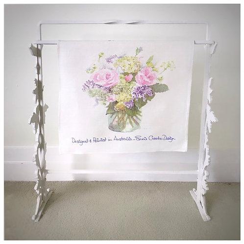 Party Flowers Tea Towel
