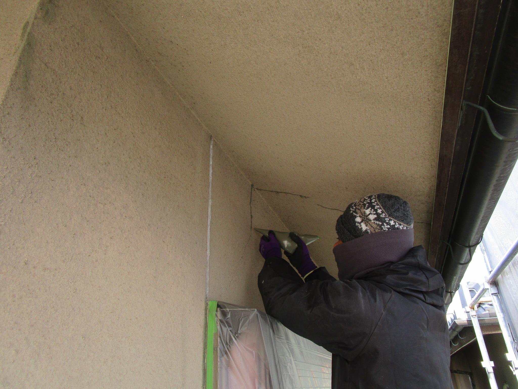 外壁クラック修繕