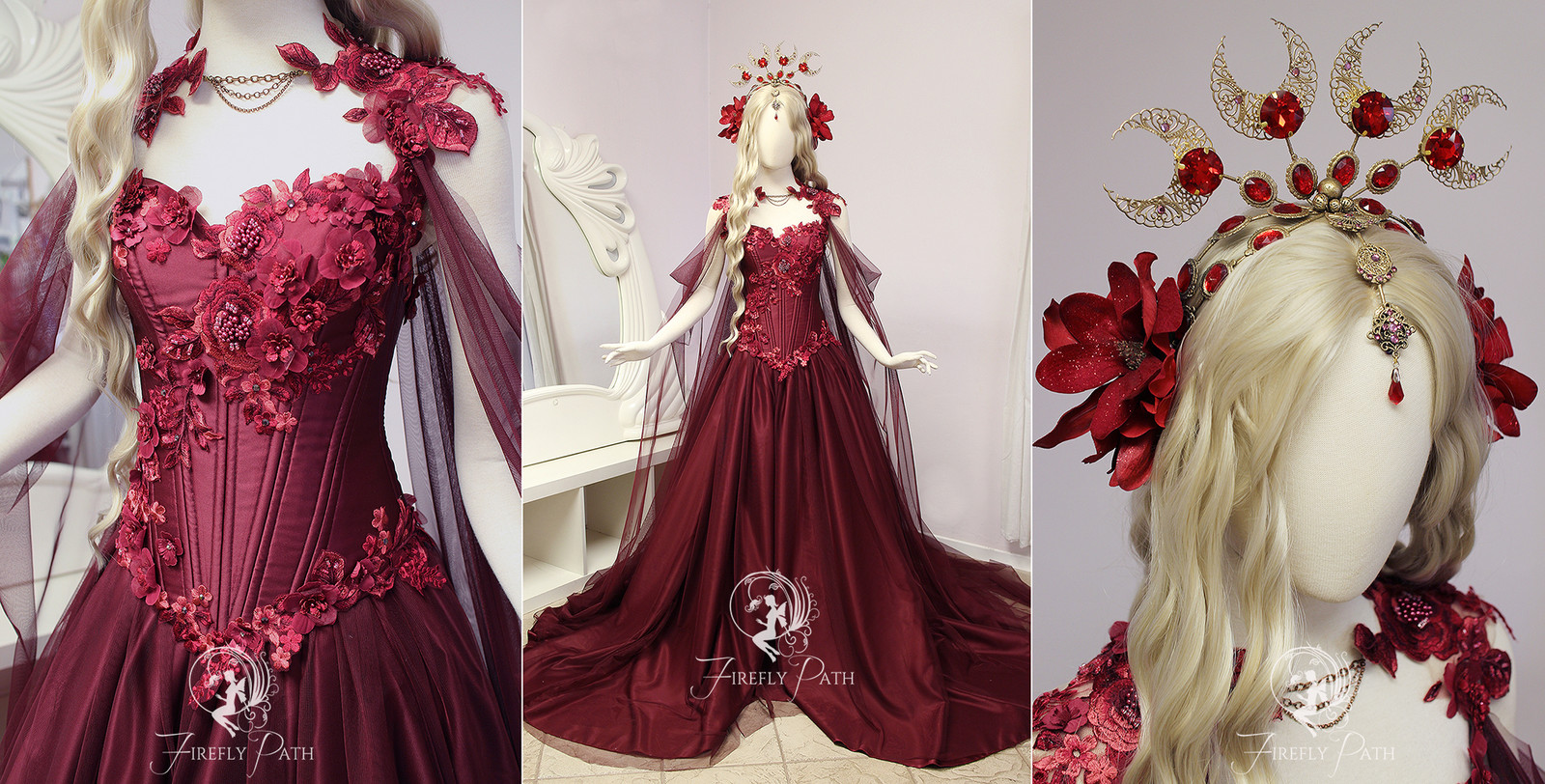 Red Rose Gown