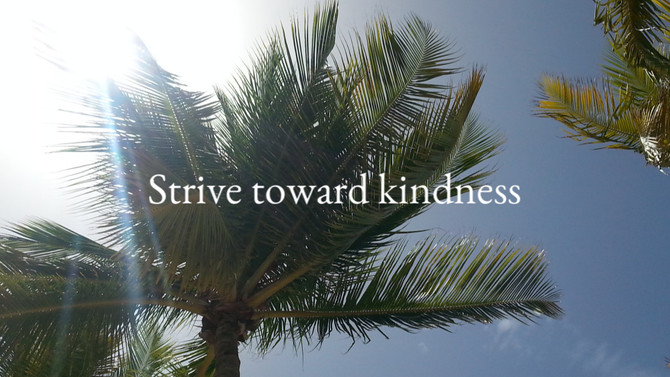 Strive toward kindness