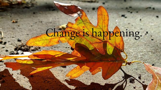 Change is happening