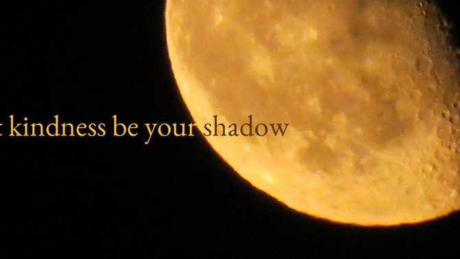 Let kindness be your shadow