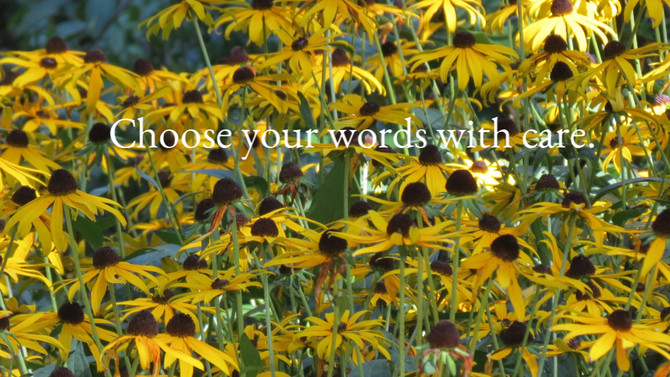 Choose your words with care