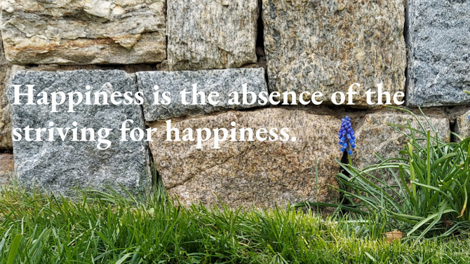 The absence of striving for happiness