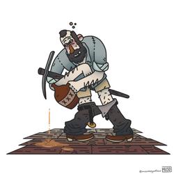 Wacky Wild West illustrations