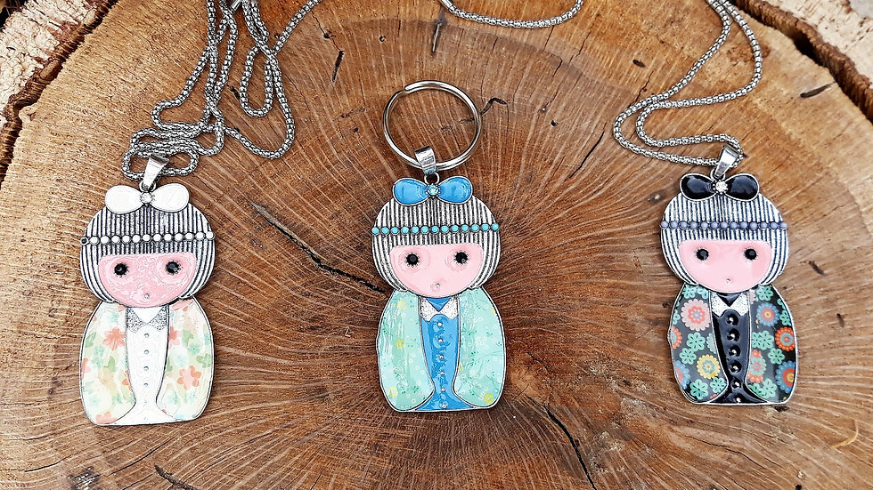 Doll Necklace and/or Keyring