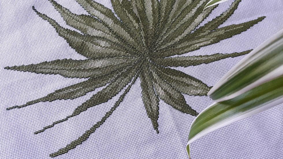 Cross stitch - Green plant