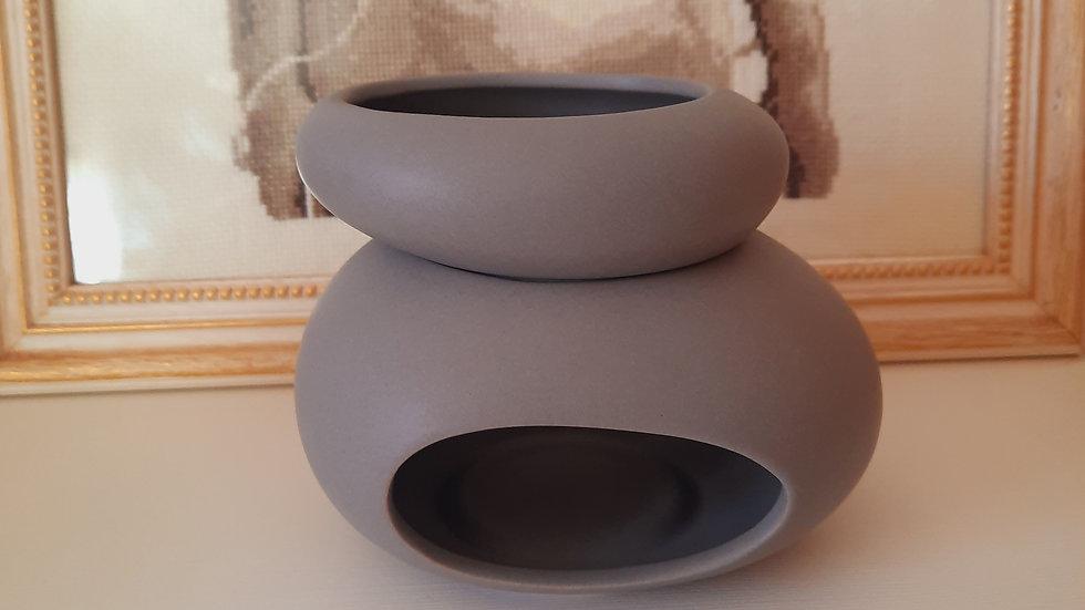 Oil burner grey Stones
