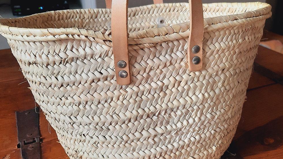 Woven Palm Shopping Basket