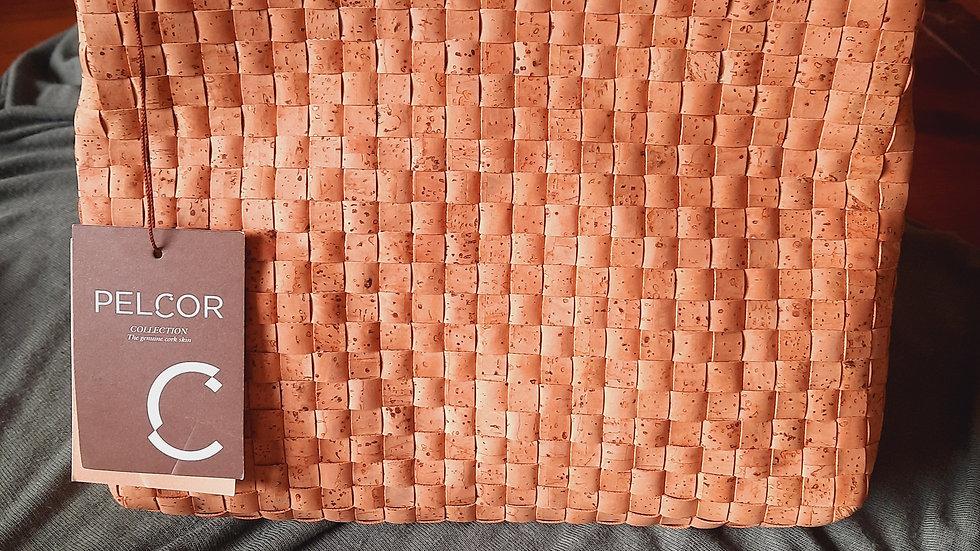 Weave cork pouch