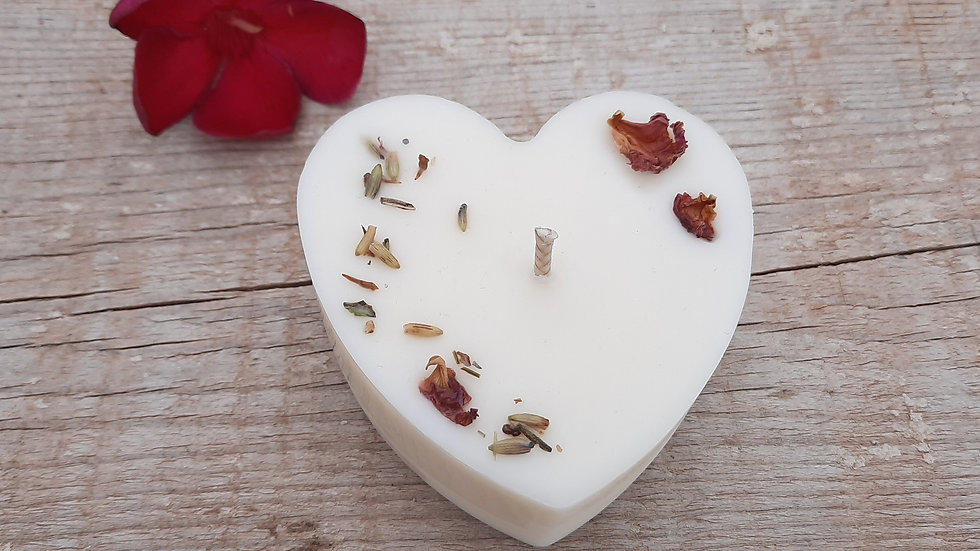 Feel the love Heart Candle