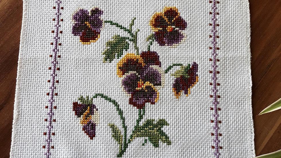 Cross stitch - Violets