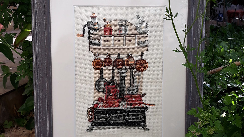 Cross stitch - Old Kitchen