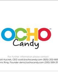 OCHO Candy PowerPoint Presentation spread.