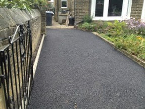 Driveway after installation