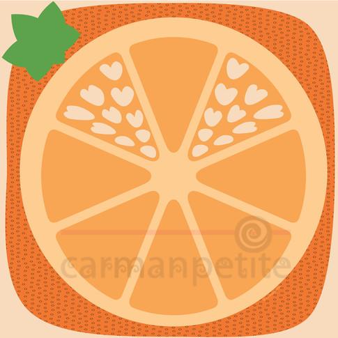 Illustration Orange heart