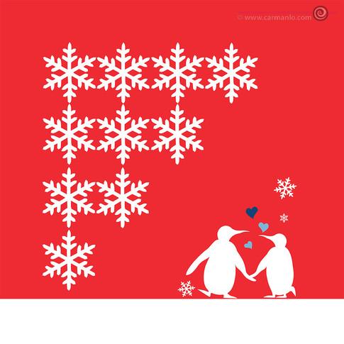 Illustration Penguin couple