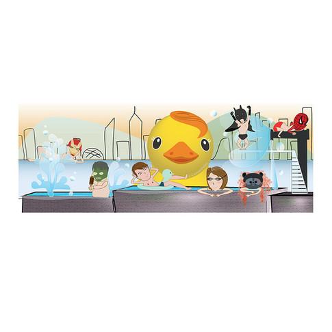 Illustration Rooftop Pool
