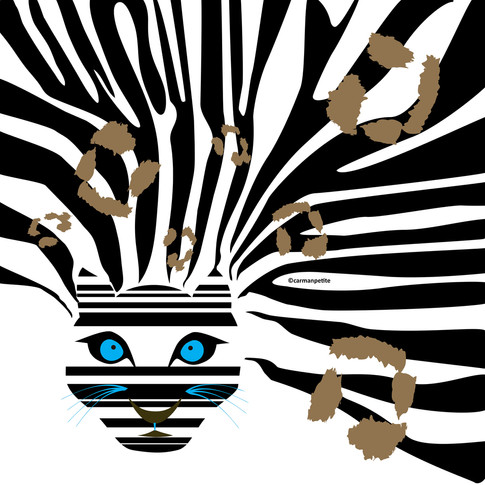 Illustration Leopard Zebra