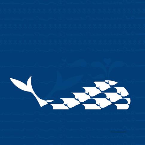 Illustration whale migration