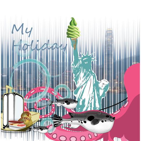 Illustration My holiday
