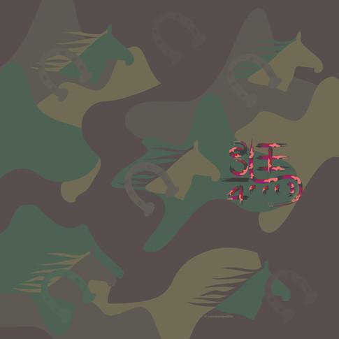 Illustration Camouflage Horse