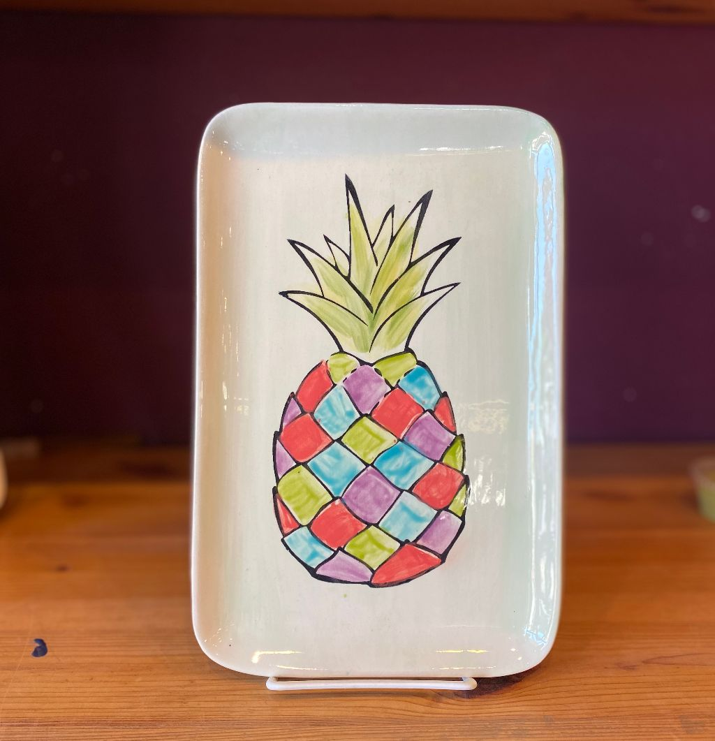 Painted Pineapple Plate