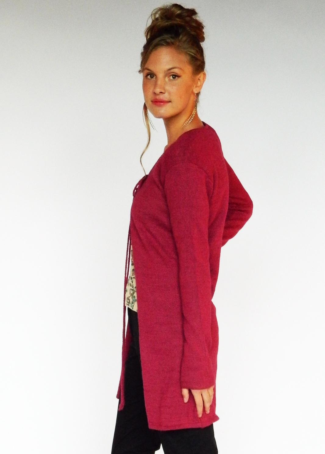 Mira Sweater ~ Wine